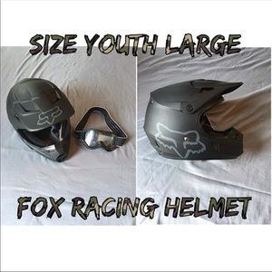 Fox helmet & goggle New, youth large